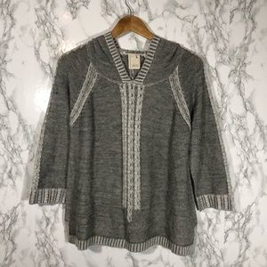 Far Away From Close Anthro Gray Knit Sweater
